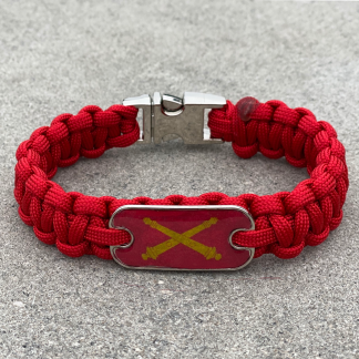 Artillery Cross Cannons Bracelet with Chrome Buckle