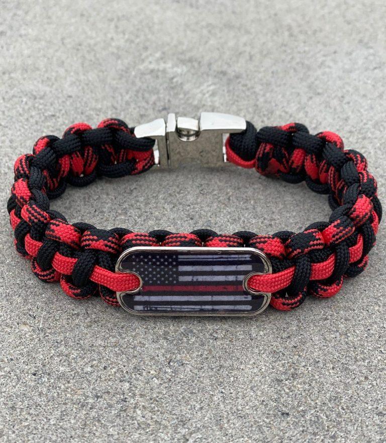Thin Red Line Bracelet