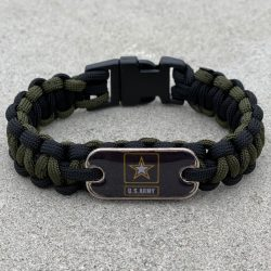 Black and Olive Army Bracelet