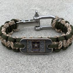 Sand Camo and Olive Army Bracelet