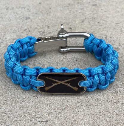 Infantry Cross Rifles Bracelet with D-Shackle