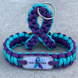 Suicide Awareness Bracelet and Keychain