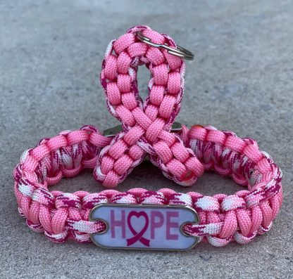 Breast Cancer Awareness Bracelet and Keychain